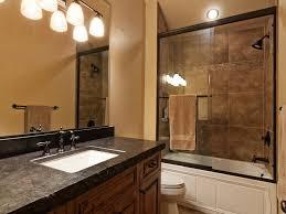 modern full bathroom with stone slab showerbath u0026 undermount sink