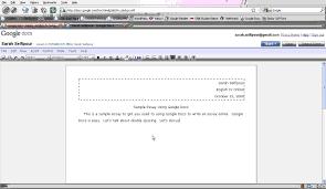 Standard Essay Format Example Google Essays Using Google Docs To Write An Essay Calam Atilde
