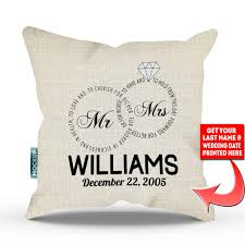 wedding pillows personalized mr and mrs wedding vows edition pillow cover 18 x