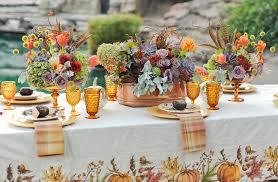 colorful thanksgiving entertaining vintage inspired tablescapes
