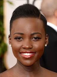black women with short haircut and tappered sides lupita nyong o side parted very short straight haircut for black