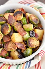 Root Vegetable Allergy - pan roasted brussels sprouts with bacon and apples