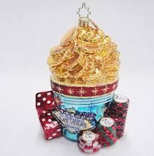 blown glass figural fabulous las vegas gold coins tokens dice