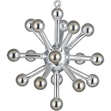 cb2 glass sputnik silver ornament 6 95 holidays