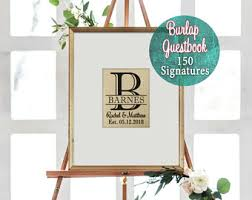 framing alternatives personalized framed guest book rustic wedding guestbook