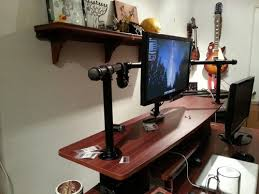Dual Monitor Mounts For Desks Diy Dual Monitor Stand Google Search Projects Desk Ideas