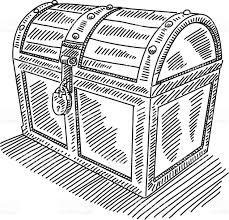 locked treasure chest drawing stock vector art 508255166 istock