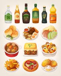 cuisine irlandaise traditionnelle plats de cuisine traditionnelle irlandaise image vectorielle
