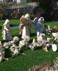 how to create a beautiful outdoor nativity