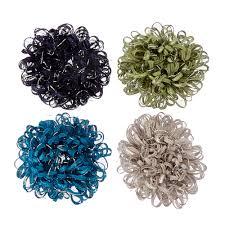 hair scrunchies green and blue looped hair scrunchies s us