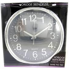 Horloge Murale Silencieuse by Horloge Silencieuse U0027design U0027 Gris 35cm