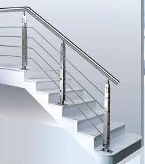 Modern Banister Stainless Steel Stair Rail Parts Steel Rail Stairs Stainless Steel
