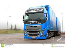 volvo truck commercial blue volvo fh16 750 truck editorial stock photo image 34961978