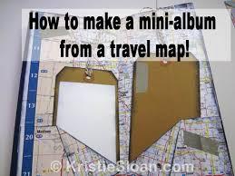 photo album scrapbook travel map 1 sheet mini album scrapbook artful adventures