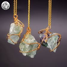 rock stone necklace images Golden fluorite necklace mystical lands jpg