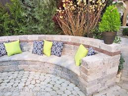 Pictures Of Retaining Wall Ideas by Paver Bench Bench Made Out Of Pavers And Retaining Wall Posies