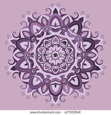 ornamental lace pattern purple lilac stock vector 427303048