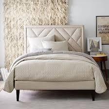 Studded Bed Frame Mod Upholstered Platform Bed Upholstered Bed Frame Upholstered