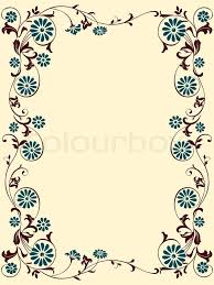 vektor flowers ornaments floral design for the frame stock photo