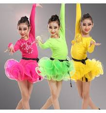kids samba kids child children neon green yellow fuchsia sleeves