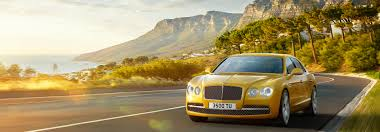 black and gold bentley flying spur features bentley motors