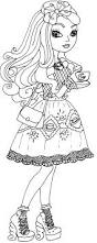 free printable ever after high coloring pages apple white hat