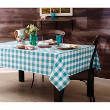 the pioneer woman charming check tablecloth teal walmart com