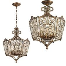Flush To Ceiling Light Fixtures Elk 11721 8 Villegosa Bronze Flush Mount Ceiling Light