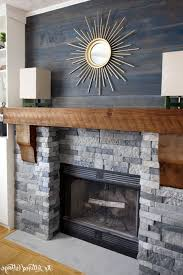 Stacked Stone Outdoor Fireplace - ideas cool faux stacked stone fireplace surround gallery of
