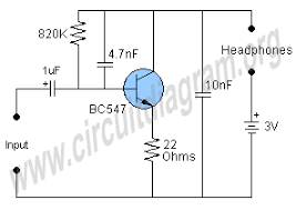 single transistor lifier circuit diagram