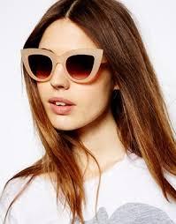 Image 3 of ASOS Flat Top Cat Eye Sunglasses : - image3xl