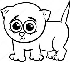 baby kitten cartoon coloring page u2014 stock vector izakowski 36735113