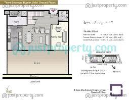 three bedroom ground floor plan azure floor plans justproperty com