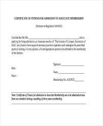 sample membership certificate participation certificate template