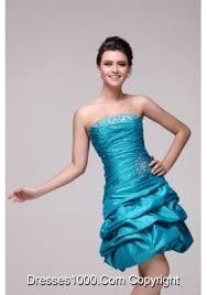 pretty blue strapless short beading taffeta prom dress us 128 62