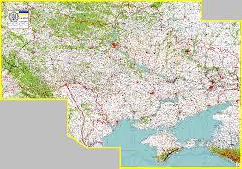 Map Ukraine Ukrainian Road Map