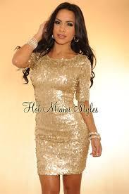light gold all over sequined short sleeves dress