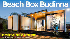 beach box buddina john robertson u0027s modern container beachside