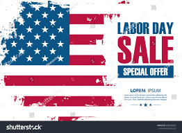 National Flags For Sale Labor Day Sale Special Offer Banner Stock Vector 695945620