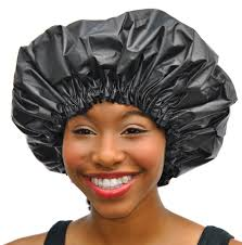 xl shower cap adjustable satin lined waterproof
