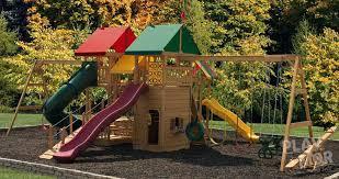 main attraction backyard play set with monkey bars slides kids