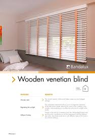 wooden venetian blinds bandalux industrial sa pdf catalogues