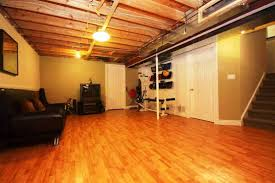 Best Basement Lighting Ideas by Chic Unfinished Basement Floor Ideas Basement Flooring Perfect For