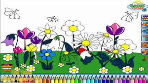 garden clipart coloring