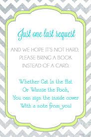 instead of a card bring a book inspirational baby shower invitation wording book instead of card