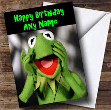 kermit the frog personalised birthday card the card zoo