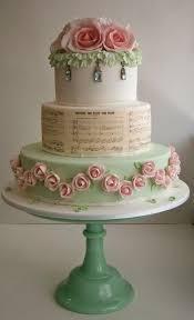 Shabby Chic Baby Shower Cakes by Pink Rose