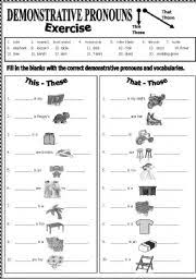 english worksheets demonstrative pronouns worksheets page 5