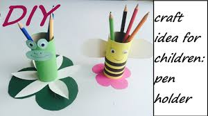 diy pencil holder easy craft idea for children youtube