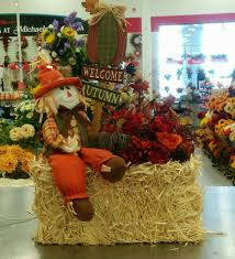 fall hay bale arrangement 3912 floral design at michaels